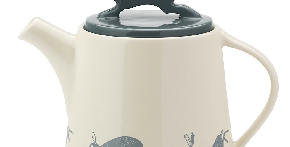 Artisan Hare Stoneware Teapot