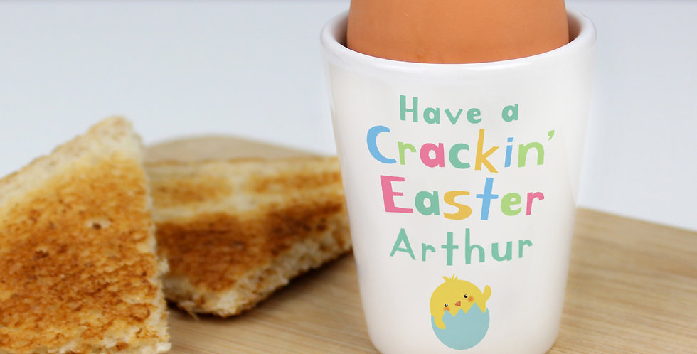 Personalised Have A Cracking Easter Egg Cup