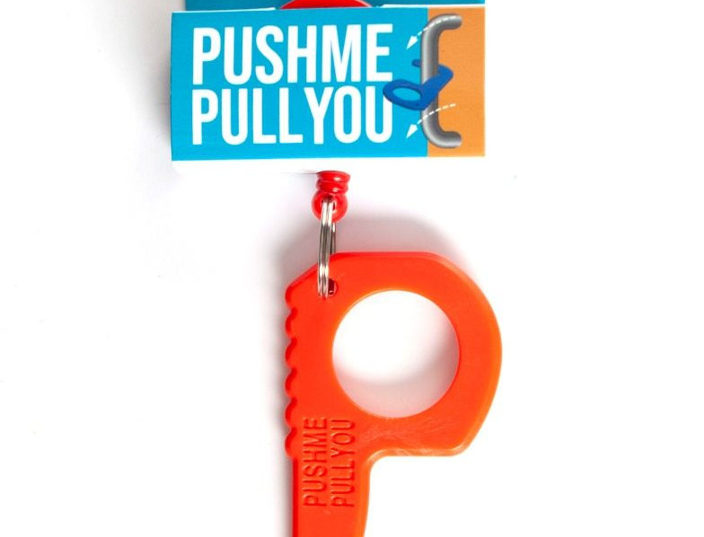 Push Me Pull You With Holder Red