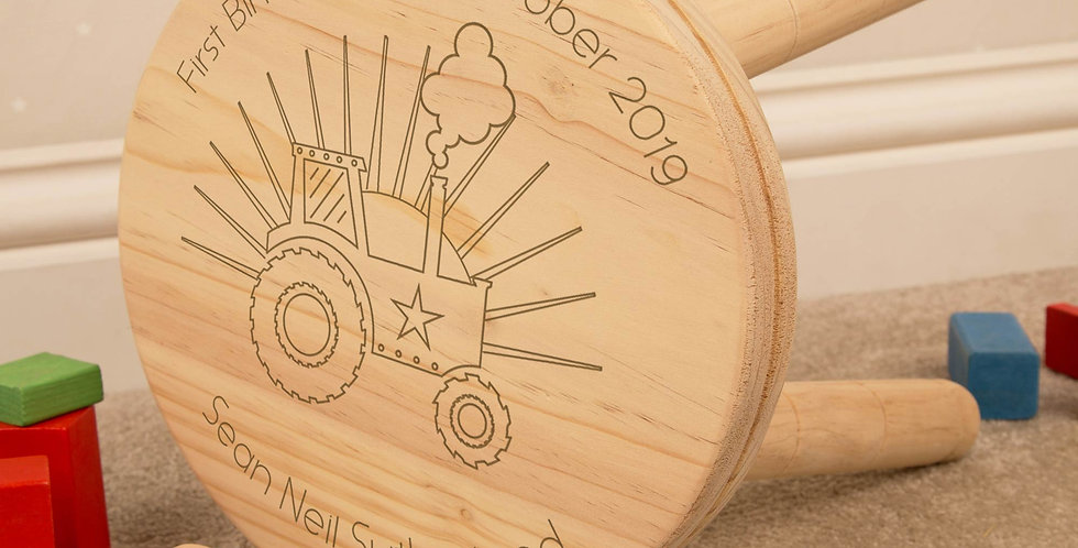 Tractor Wooden Stool