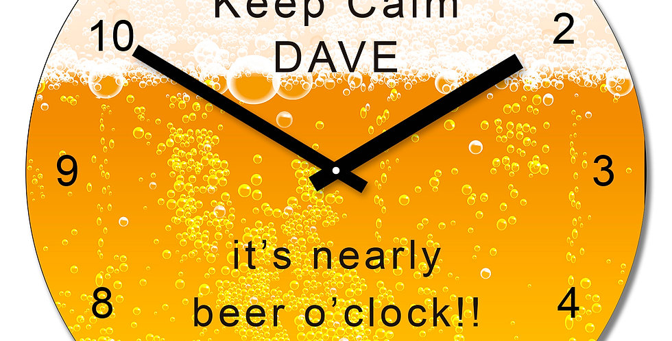 Beer Design Wall Clock