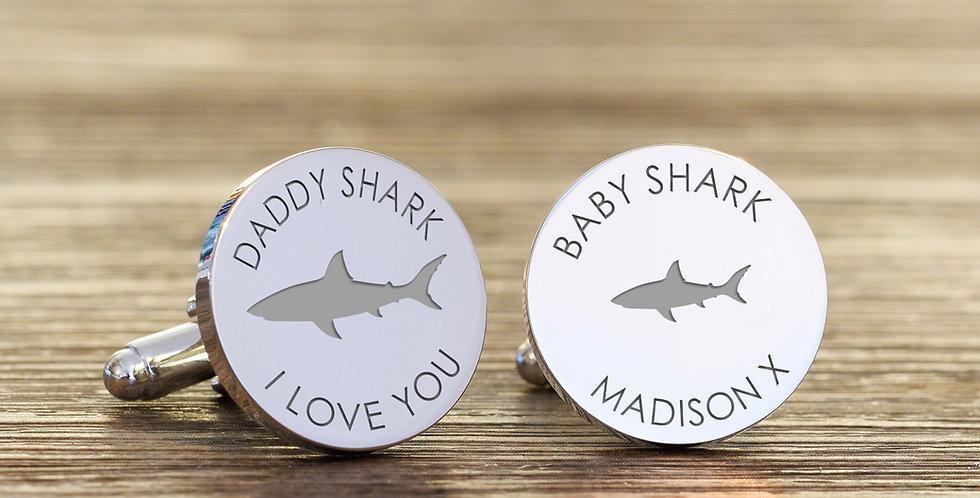 Daddy Shark Cufflinks