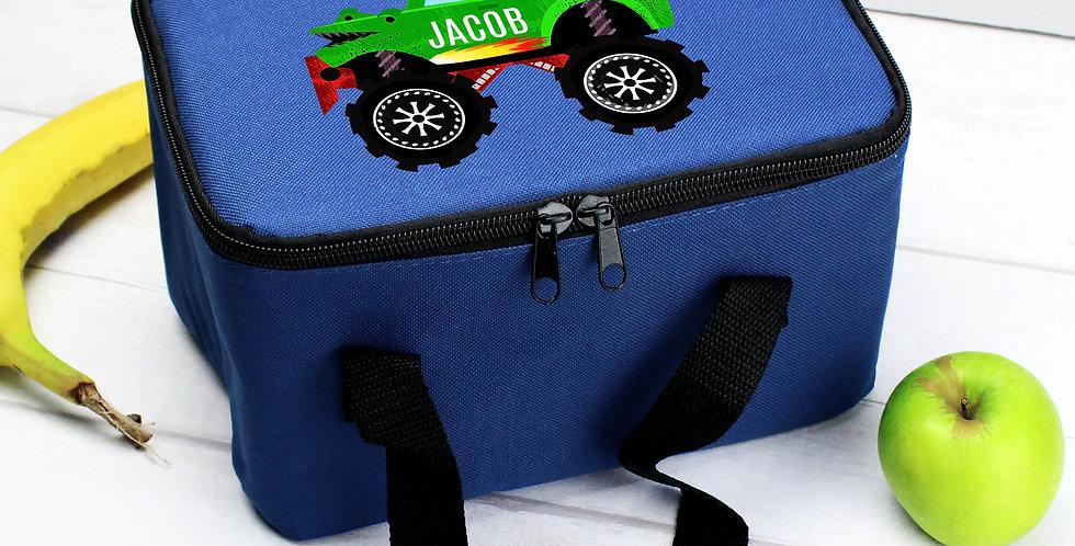 Monster Truck Blue Lunch Bag