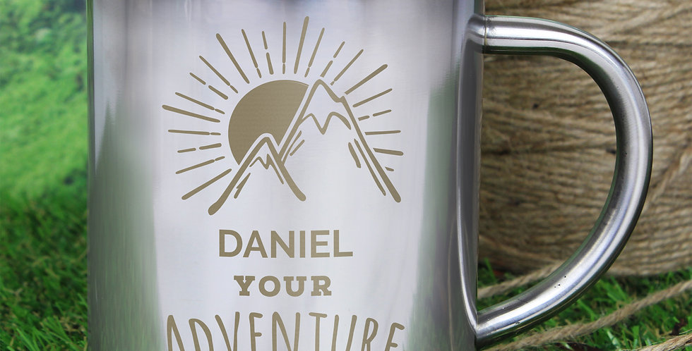 'Adventure Awaits' Stainless Steel Mug