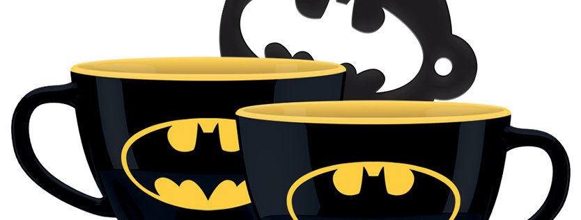 Batman Cappuccino Mug with Batman Symbol