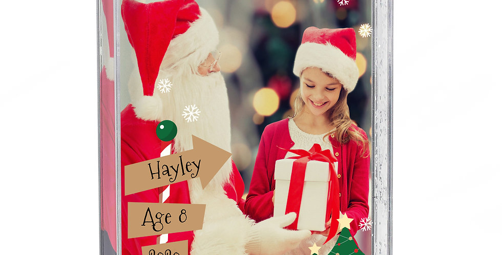 Personalised Santa & Me 6x4 Glitter Shaker Photo Frame