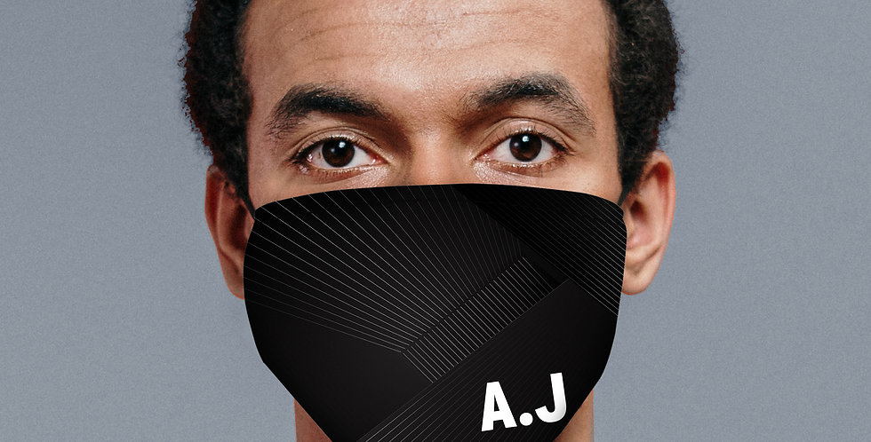 Personalised Initials Face Covering