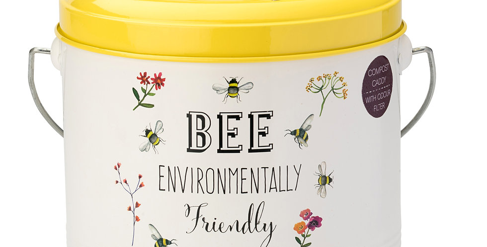 Bee Happy Compost Caddy