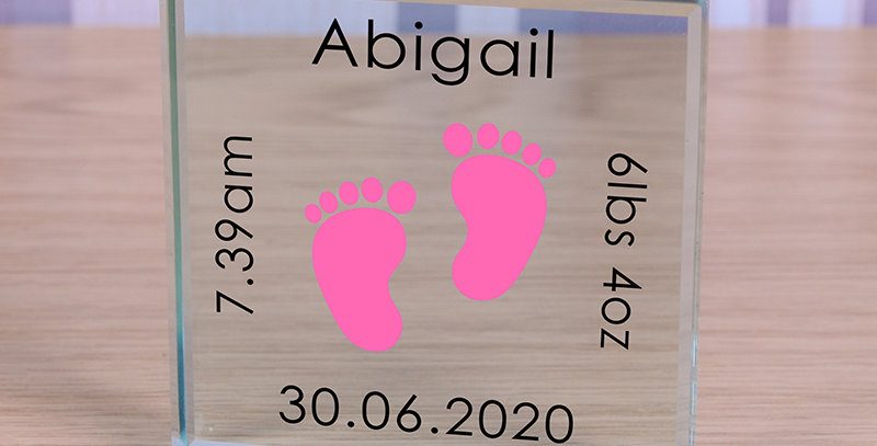 Pink Baby Feet - Glass Token