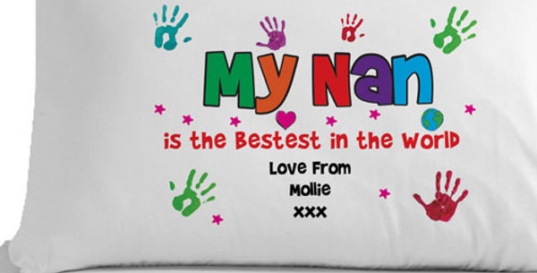 Personalised Bestest Gran, Granny, Nan, Grandma or Nanna Pillowcase