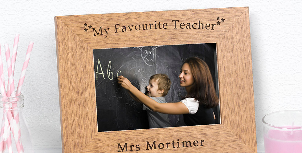My Favourite Teacher Wood Frame 6x4