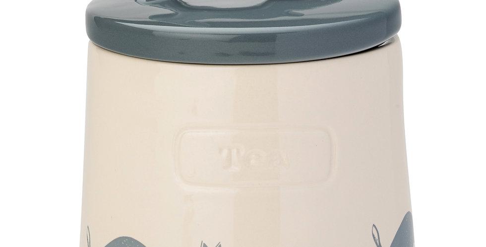 Artisan Hare Stoneware Tea Canister