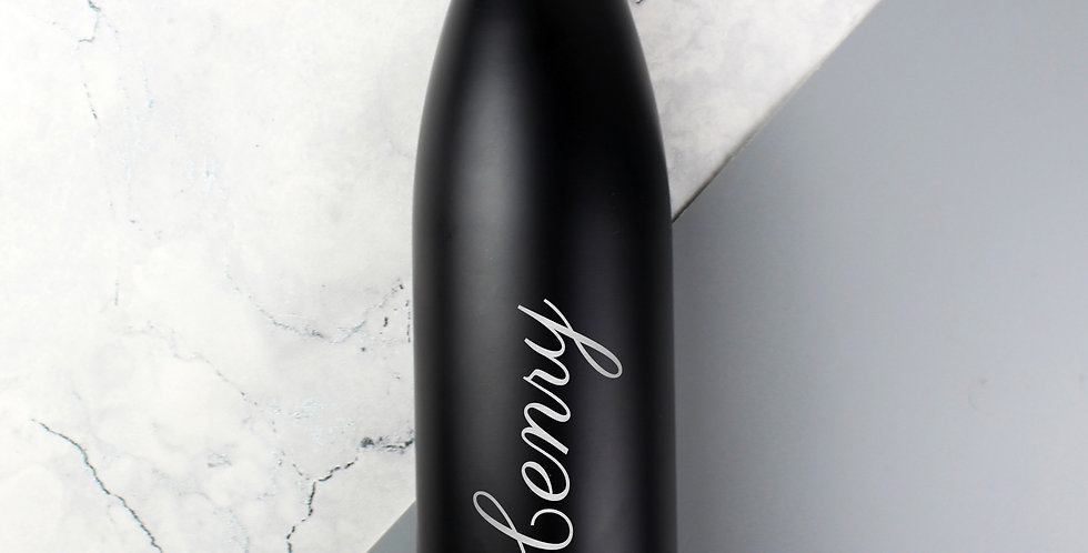 Black Metal Insulated Drinks Bottle