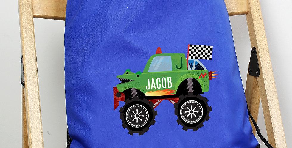 Monster Truck Blue Kit Bag