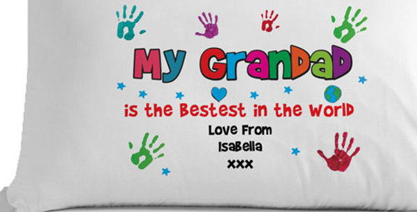 Personalised Bestest Grandad, Granda, Granpa, Papa or Pops Pillowcase
