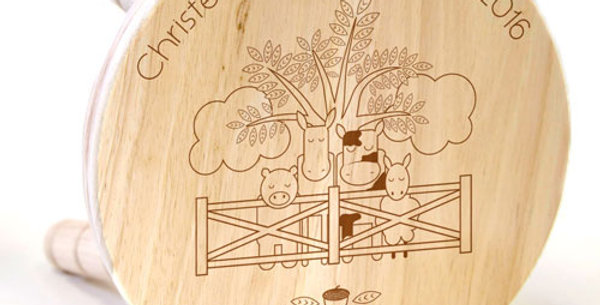 Farmyard Wooden Stool