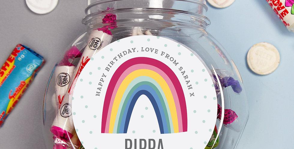 NHS and Key Worker Personalised Rainbow Sweet Jar