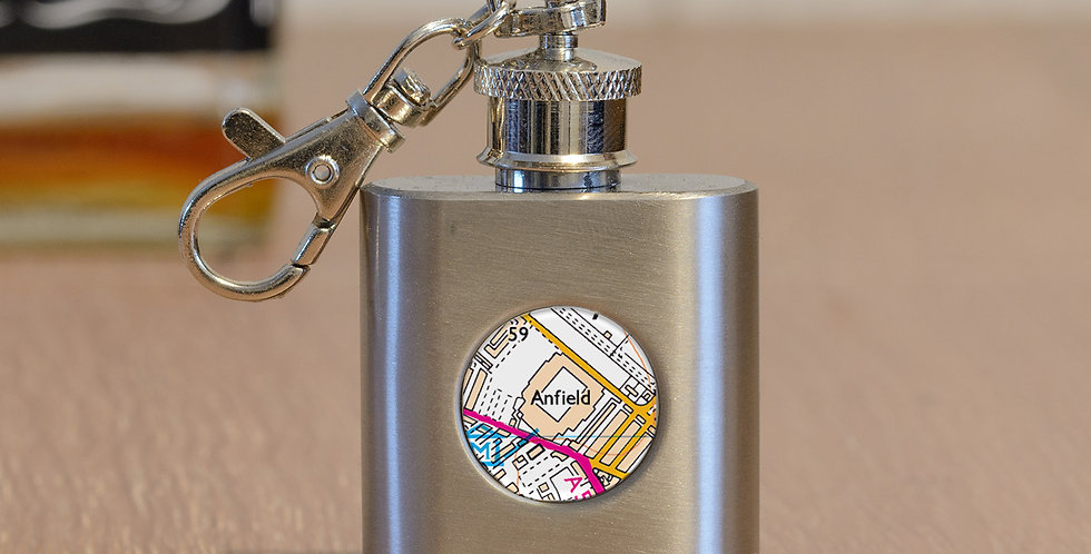 Favourite Football Ground Hip Flask Key Ring