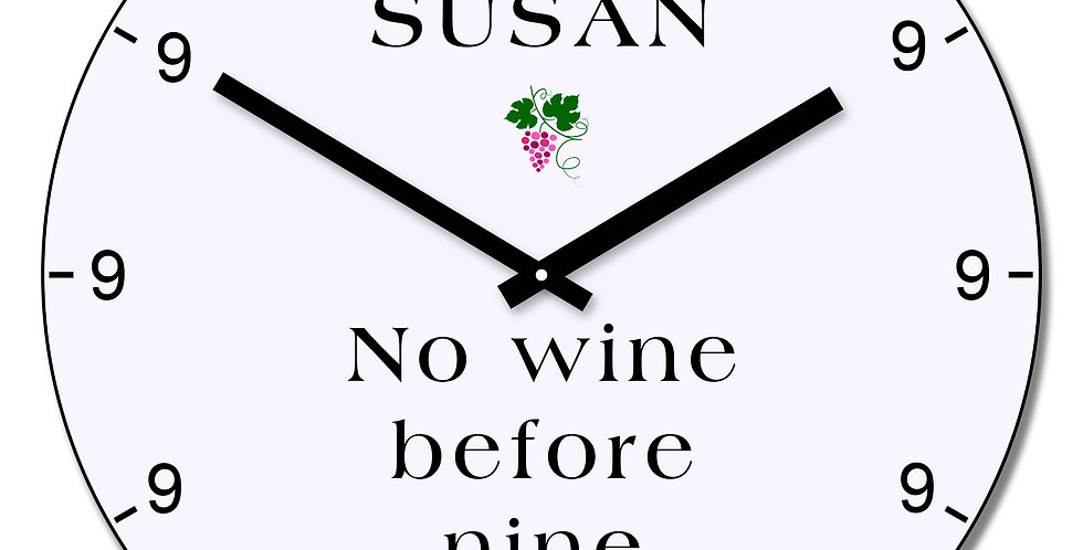 No wine before wall clock