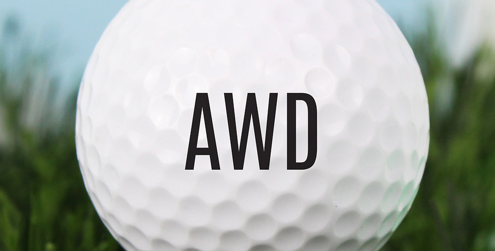 Personalised Initials Golf Ball