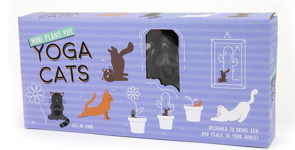 Yoga Cat Plant Pot Markers