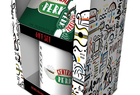 Friends Central Perk Mug, Coaster and Key chain Set