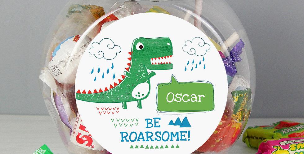 'Be Roarsome' Dinosaur Sweet Jar