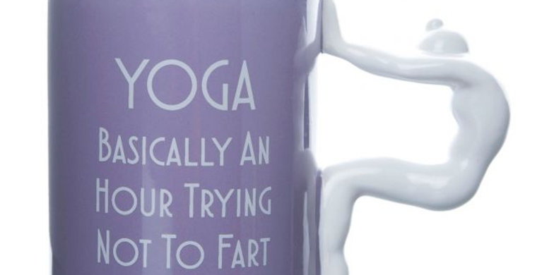 Trying Not To Fart Yoga Mug