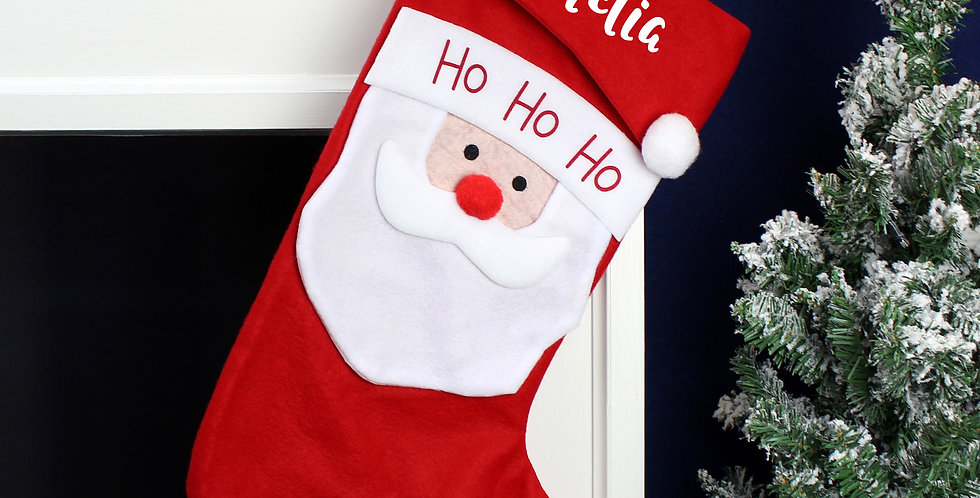 Personalised Name Only Santa Christmas Stocking