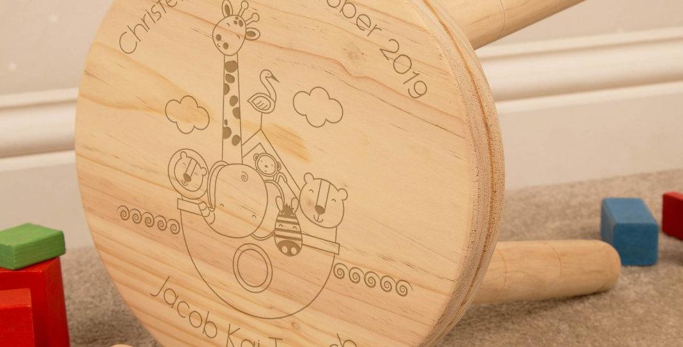 Noahs Ark Wooden Stool