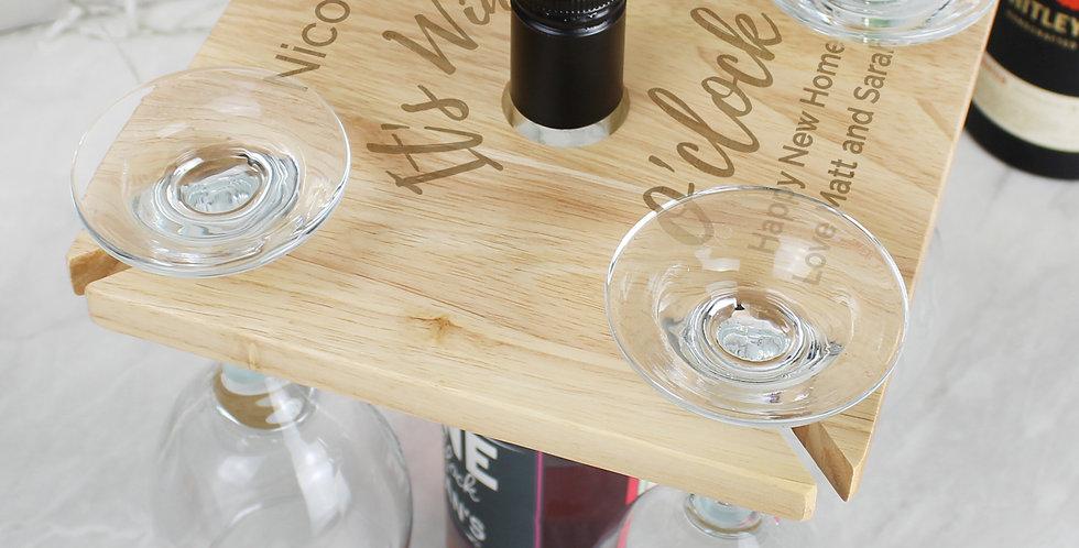 Wine O'clock Four Wine Glass Holder & Bottle Butler