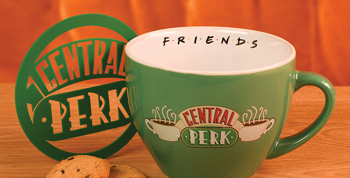 Friends (Central Perk Green) Cappuccino Mug with Stencil
