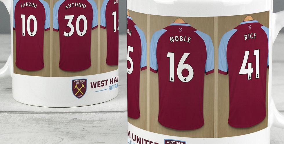 West Ham United Football Club Dressing Room Mug