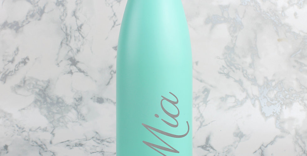 Mint Green Metal Insulated Drinks Bottle