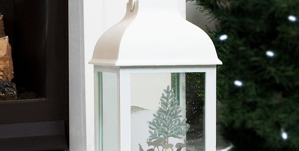 Personalised A Winter's Night White Lantern