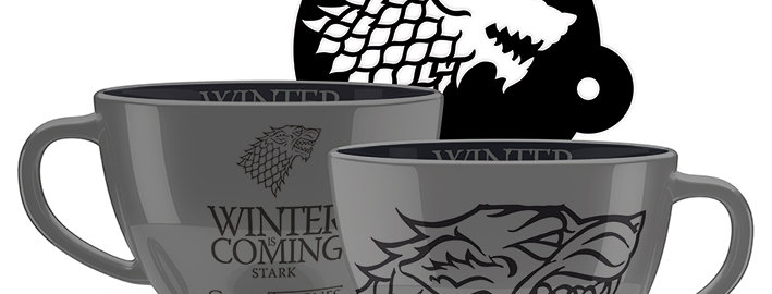 Game of Thrones (Stark) Cappuccino Mug with Stencil