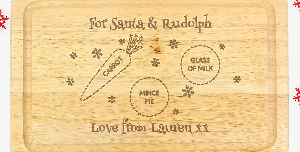 Personalised Christmas Eve Mince Pie Board