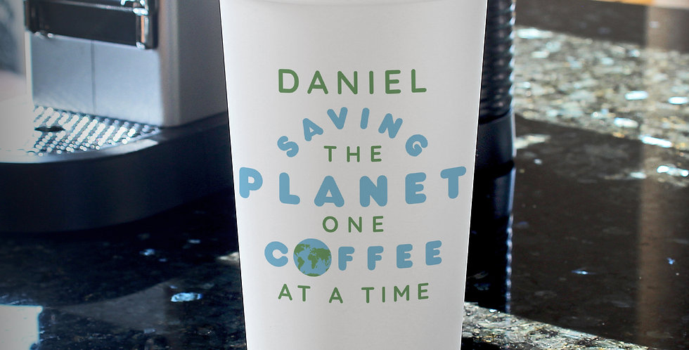 'Saving the Planet' Double Walled Travel Mug