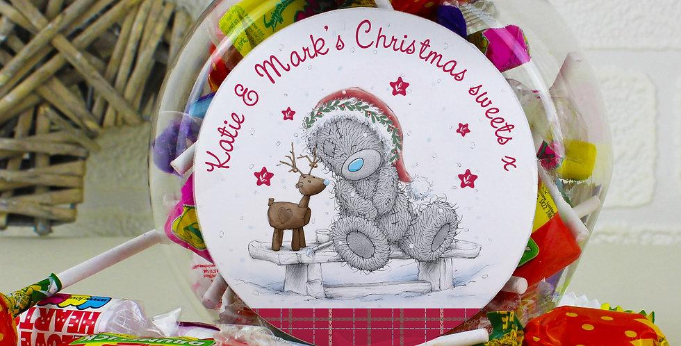 Personalised Me To You Reindeer Sweet Jar