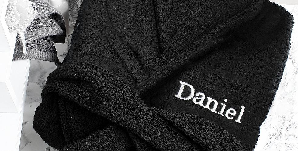 Personalised Black Dressing Gown