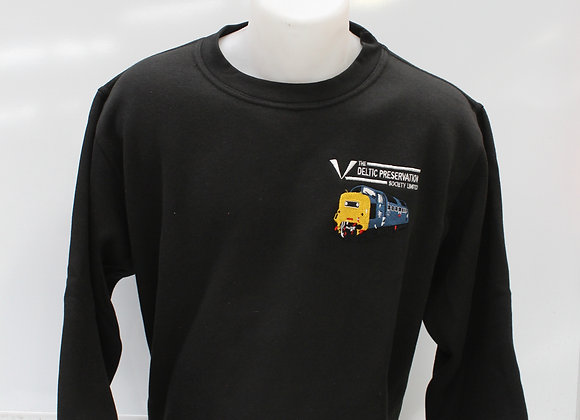 Black Sweatshirt with DPS logo and blue Deltic.