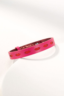 Pink Leather Band
