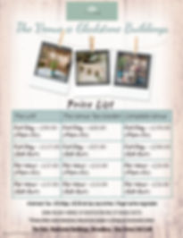 The Venue Price List - Made with PosterM
