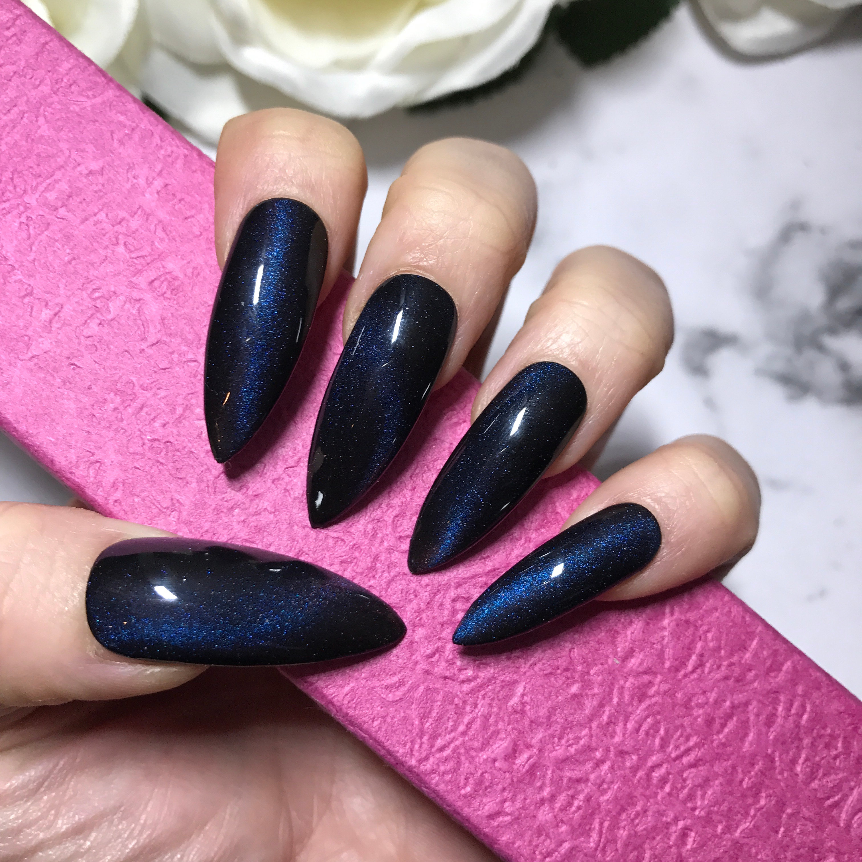 Hand Painted False Nails