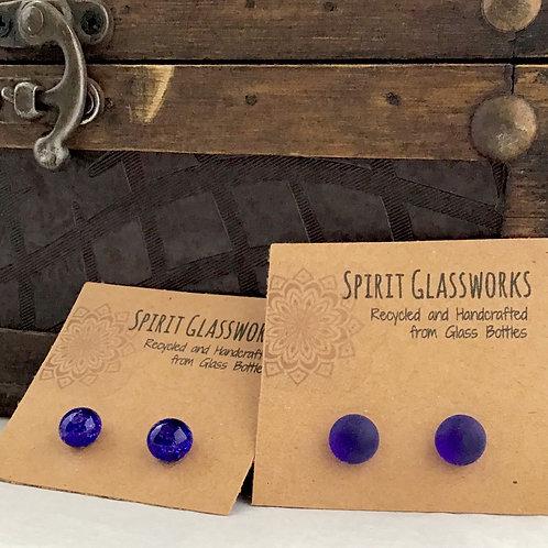 Cobalt Stud Earrings