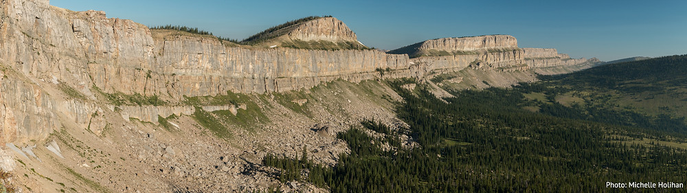 The Chinese Wall in the Bob Marshall Complex, running from Cliff Mountain to Larch Hill Pass.