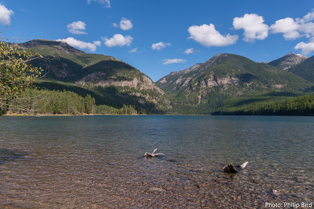 Holland Lake in the Flathead National Forest in Northwestern Montana, near Kalispell.