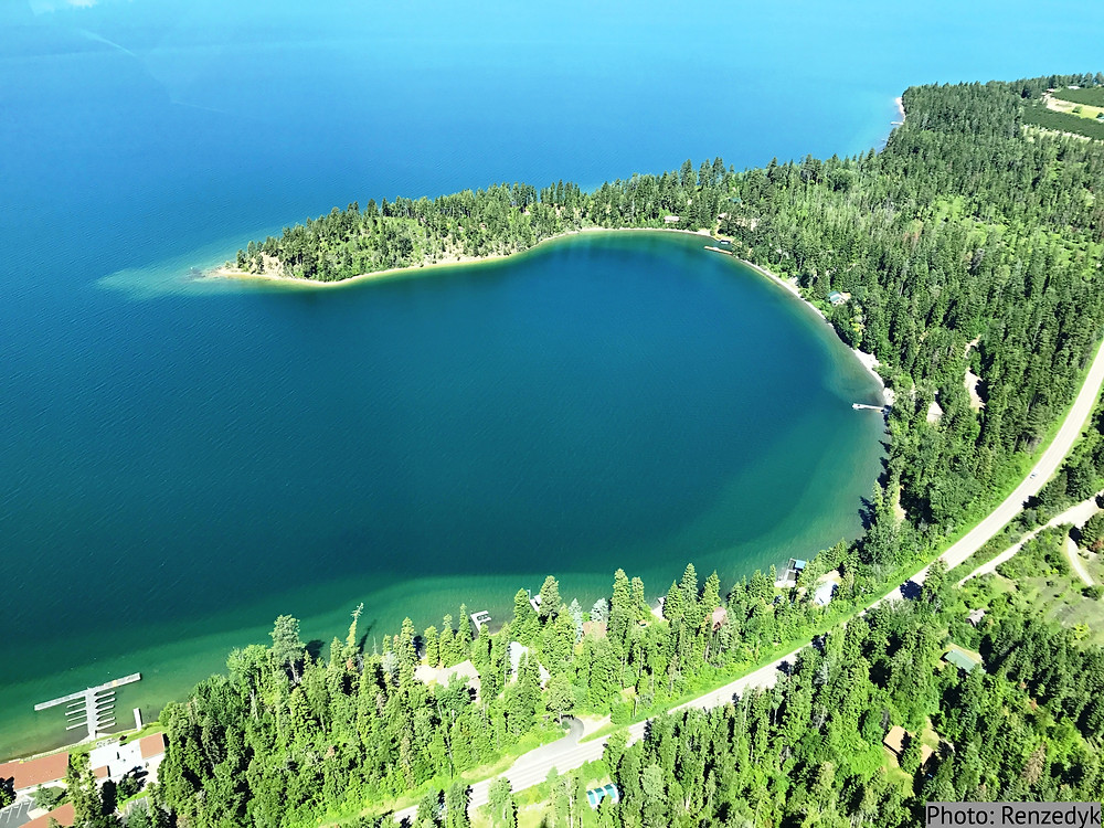 Yellow Bay State Park on the east side of Flathead Lake in Montana.