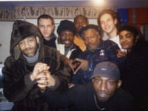 Horace Andy, Anthony Johnson and Colour Man  in the studio