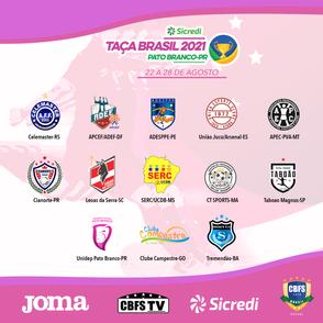 CBFS divulga grupos e tabela da 28ª Edição da Taça Brasil Sicredi Adulto Feminino Divisão Especial